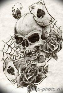 Фото рисунка тату череп 24.11.2018 №197 - photo tattoo skull - tattoo-photo.ru