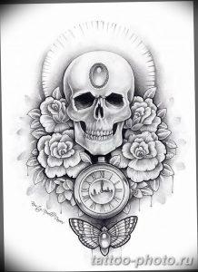 Фото рисунка тату череп 24.11.2018 №207 - photo tattoo skull - tattoo-photo.ru
