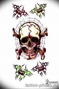 Фото рисунка тату череп 24.11.2018 №219 - photo tattoo skull - tattoo-photo.ru