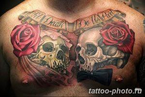 Фото рисунка тату череп 24.11.2018 №230 - photo tattoo skull - tattoo-photo.ru