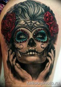 Фото рисунка тату череп 24.11.2018 №240 - photo tattoo skull - tattoo-photo.ru
