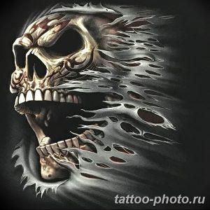 Фото рисунка тату череп 24.11.2018 №249 - photo tattoo skull - tattoo-photo.ru