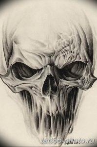 Фото рисунка тату череп 24.11.2018 №265 - photo tattoo skull - tattoo-photo.ru