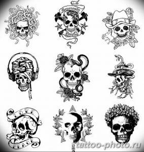 Фото рисунка тату череп 24.11.2018 №283 - photo tattoo skull - tattoo-photo.ru