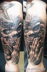 Фото рисунка тату череп 24.11.2018 №285 - photo tattoo skull - tattoo-photo.ru
