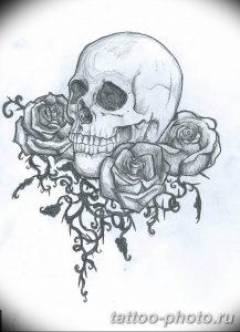 Фото рисунка тату череп 24.11.2018 №296 - photo tattoo skull - tattoo-photo.ru