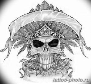 Фото рисунка тату череп 24.11.2018 №303 - photo tattoo skull - tattoo-photo.ru