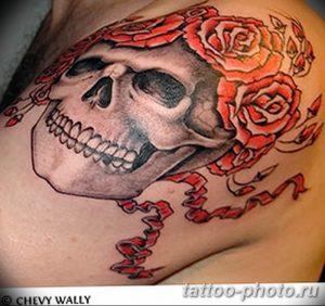Фото рисунка тату череп 24.11.2018 №304 - photo tattoo skull - tattoo-photo.ru