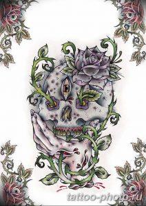Фото рисунка тату череп 24.11.2018 №306 - photo tattoo skull - tattoo-photo.ru