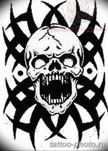Фото рисунка тату череп 24.11.2018 №312 - photo tattoo skull - tattoo-photo.ru