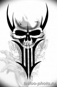 Фото рисунка тату череп 24.11.2018 №323 - photo tattoo skull - tattoo-photo.ru