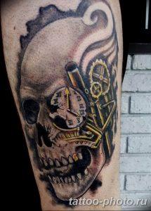 Фото рисунка тату череп 24.11.2018 №336 - photo tattoo skull - tattoo-photo.ru