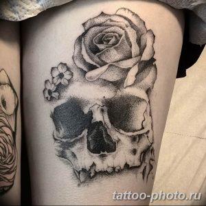 Фото рисунка тату череп 24.11.2018 №340 - photo tattoo skull - tattoo-photo.ru