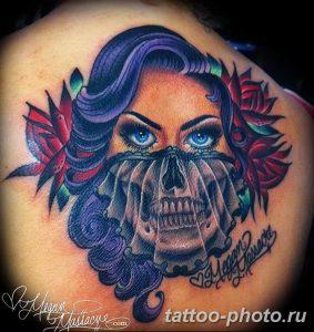 Фото рисунка тату череп 24.11.2018 №343 - photo tattoo skull - tattoo-photo.ru