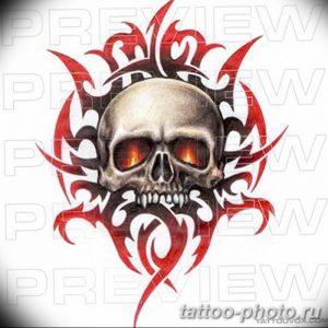 Фото рисунка тату череп 24.11.2018 №346 - photo tattoo skull - tattoo-photo.ru