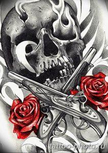 Фото рисунка тату череп 24.11.2018 №347 - photo tattoo skull - tattoo-photo.ru
