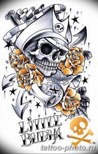 Фото рисунка тату череп 24.11.2018 №351 - photo tattoo skull - tattoo-photo.ru
