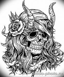 Фото рисунка тату череп 24.11.2018 №352 - photo tattoo skull - tattoo-photo.ru