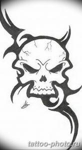 Фото рисунка тату череп 24.11.2018 №363 - photo tattoo skull - tattoo-photo.ru
