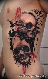Фото рисунка тату череп 24.11.2018 №364 - photo tattoo skull - tattoo-photo.ru