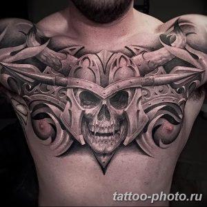 Фото рисунка тату череп 24.11.2018 №366 - photo tattoo skull - tattoo-photo.ru