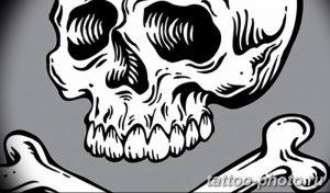 Фото рисунка тату череп 24.11.2018 №367 - photo tattoo skull - tattoo-photo.ru