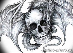 Фото рисунка тату череп 24.11.2018 №378 - photo tattoo skull - tattoo-photo.ru