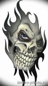 Фото рисунка тату череп 24.11.2018 №380 - photo tattoo skull - tattoo-photo.ru