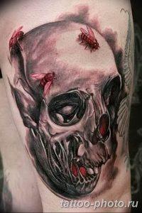 Фото рисунка тату череп 24.11.2018 №392 - photo tattoo skull - tattoo-photo.ru