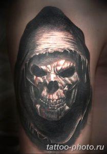 Фото рисунка тату череп 24.11.2018 №398 - photo tattoo skull - tattoo-photo.ru