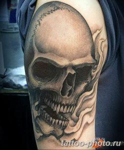 Фото рисунка тату череп 24.11.2018 №399 - photo tattoo skull - tattoo-photo.ru