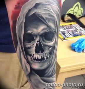 Фото рисунка тату череп 24.11.2018 №404 - photo tattoo skull - tattoo-photo.ru