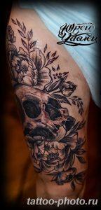 Фото рисунка тату череп 24.11.2018 №425 - photo tattoo skull - tattoo-photo.ru