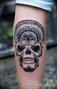Фото рисунка тату череп 24.11.2018 №429 - photo tattoo skull - tattoo-photo.ru