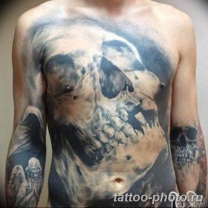 Фото рисунка тату череп 24.11.2018 №431 - photo tattoo skull - tattoo-photo.ru