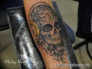 Фото рисунка тату череп 24.11.2018 №440 - photo tattoo skull - tattoo-photo.ru
