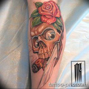 Фото рисунка тату череп 24.11.2018 №444 - photo tattoo skull - tattoo-photo.ru