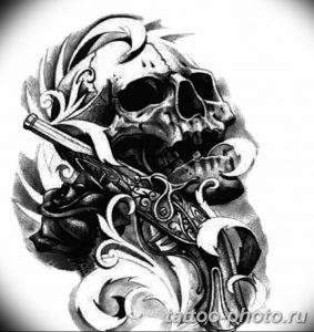 Фото рисунка тату череп 24.11.2018 №450 - photo tattoo skull - tattoo-photo.ru