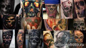 Фото рисунка тату череп 24.11.2018 №457 - photo tattoo skull - tattoo-photo.ru