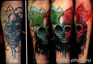 Фото рисунка тату череп 24.11.2018 №459 - photo tattoo skull - tattoo-photo.ru