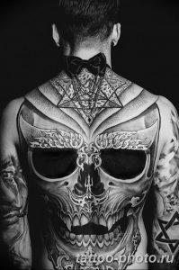 Фото рисунка тату череп 24.11.2018 №460 - photo tattoo skull - tattoo-photo.ru