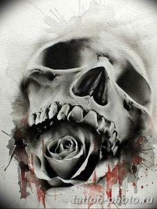 Фото рисунка тату череп 24.11.2018 №463 - photo tattoo skull - tattoo-photo.ru