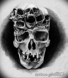 Фото рисунка тату череп 24.11.2018 №464 - photo tattoo skull - tattoo-photo.ru