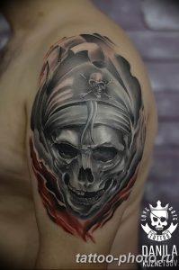 Фото рисунка тату череп 24.11.2018 №467 - photo tattoo skull - tattoo-photo.ru