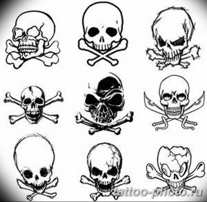 Фото рисунка тату череп 24.11.2018 №472 - photo tattoo skull - tattoo-photo.ru