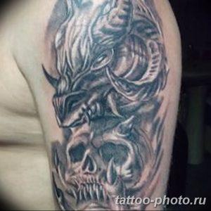 Фото рисунка тату череп 24.11.2018 №491 - photo tattoo skull - tattoo-photo.ru