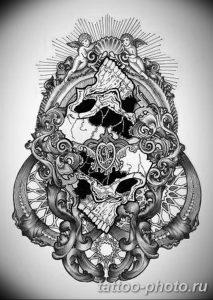 Фото рисунка тату череп 24.11.2018 №494 - photo tattoo skull - tattoo-photo.ru