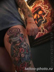 Фото рисунка тату череп 24.11.2018 №497 - photo tattoo skull - tattoo-photo.ru