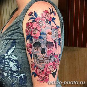 Фото рисунка тату череп 24.11.2018 №507 - photo tattoo skull - tattoo-photo.ru