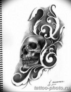 Фото рисунка тату череп 24.11.2018 №508 - photo tattoo skull - tattoo-photo.ru